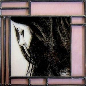 Gebrandschilderd portret door glasatelier ruud harberts | brandschilderen en glas-in-lood